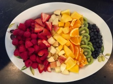 Fresh Fruit with Spiced Whipped Cream