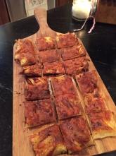 Cheddar & apple tart