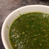 Pimped out green sauce