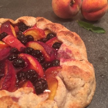 Peach & Blueberry crostata