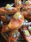 Smoked Salmon Crostini