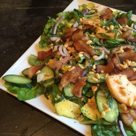 Cantaloupe & Bacon Salad