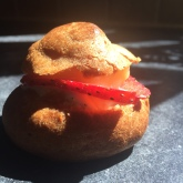 Cream puff with lemon curd