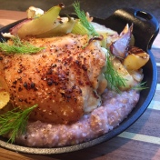 Roasted Chicken with Fennel & Grits