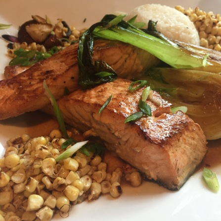 Salmon with Charred Vegetables